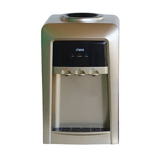 Mika Water Dispenser, Standing, Hot, Normal & Cold, Electric cooling, Gold & Black
