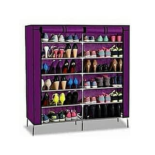 Portable Shoe Rack - 36 pairs - Purple