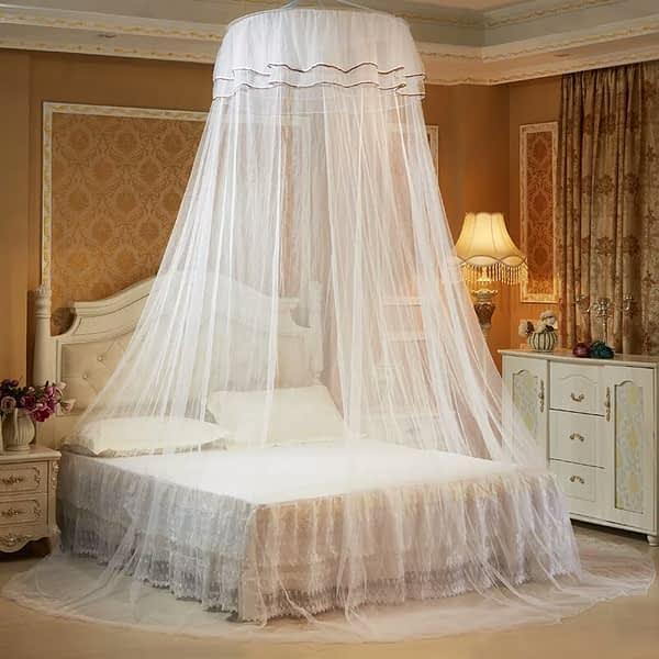 Round Double Decker Mosquito Net - Free Size - White