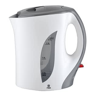 Kettle (Electric), Plastic, 1.7L, Corded, White & Grey