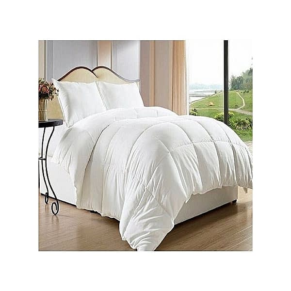Pure White Duvet +1 bed sheet & 2 Pillow Cases-6x6 King Size