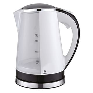 Kettle (Electric), Plastic, 1.7L, Cordless, White & Black