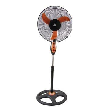 """Stand Fan, 16"""", Orange & Black"""