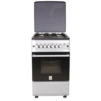 Standing Cooker, 50cm X 55cm, 4GB, Electric Oven, Silver