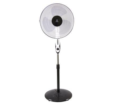 "Stand Fan 16"", White & Black"