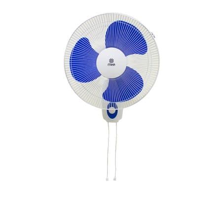"""Wall Fan 16"""", Blue & White"""