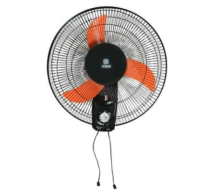 """Wall Fan 16"""", Orange & Black"""