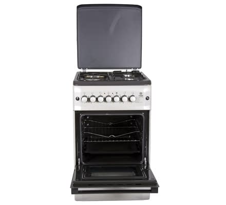 Standing Cooker, 50cm X 55cm, 3 + 1, Electric Oven, Silver