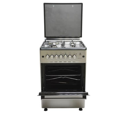 Standing Cooker, 60cm X 60cm, 3 + 1, Electric Oven, Silver