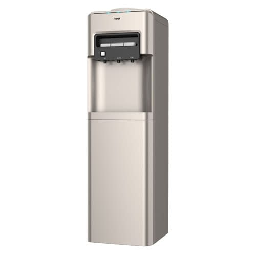 Mika Water Dispenser, Standing, Hot, Normal & Cold, Compressor cooling, Gold Finish