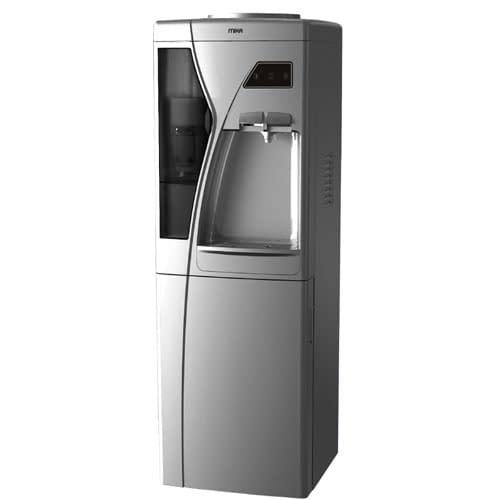Mika Water Dispenser, Standing, Hot & Cold, Compressor cooling, Silver & Black