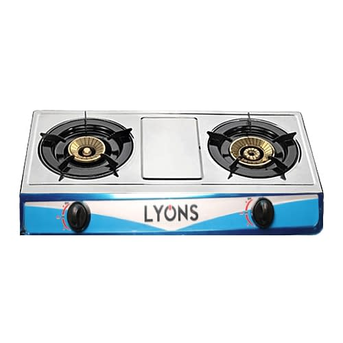 Lyons Stainless steel body Gas Stove Double Burner -GS002
